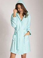 Женский халат с капюшоном 17650-310 Spa-airport Taubert