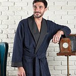 Мужской бамбуковый халат Alonso т.синий Five wien