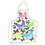 Бабочки на белом - фартук на клеенке VS