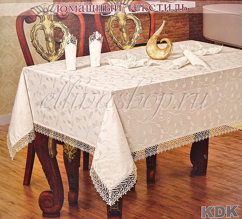 Скатерть для прямоугольного стола своими руками 42