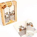 Комплект вафельных полотенец (50x70 2шт.) Хлеб Nilteks