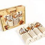 Комплект вафельных полотенец (50x70 4шт.) Хлеб Nilteks