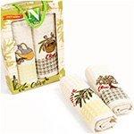 Комплект вафельных полотенец (50x70 2шт.) Оливки Nilteks