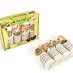 Комплект вафельных полотенец (50x70 4шт.) Оливки Nilteks