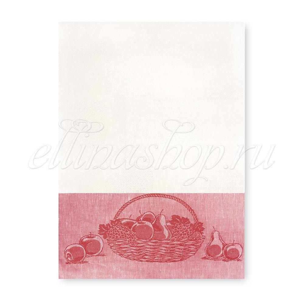 10с503 Гостинец красный полотенце лен/хлопок