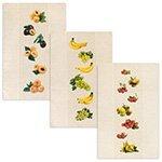 Комплект льняных полотенец 3шт (45x70) 13С226 Сад-3
