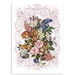 Полотенце льняное (50x70) 15с525 Цветочный натюрморт