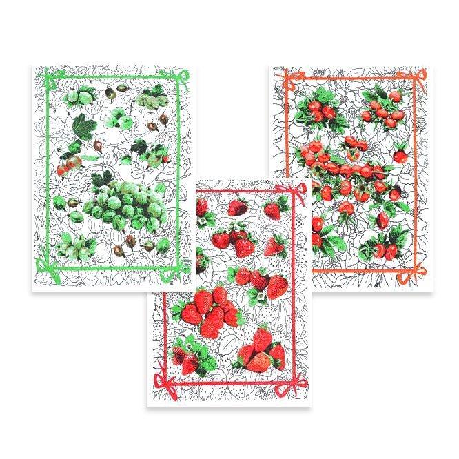 Комплект полотенец 3шт (45x60) 16с111 Ягоды