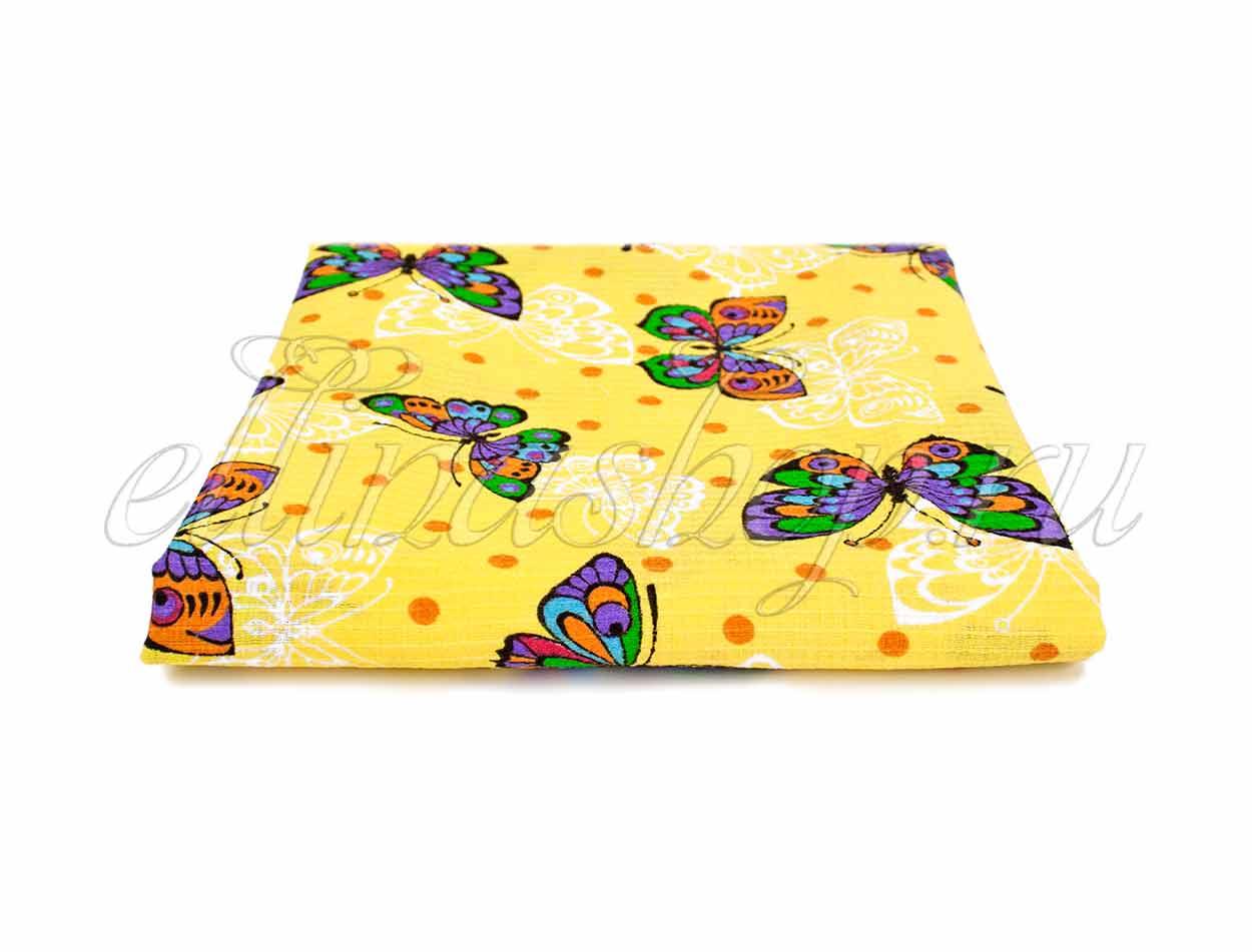 Бабочки желтый - вафельная простыня Elin