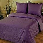 Постельное белье из страйп-сатина Точки 3*3 фиолетовый Elin