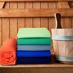 Вафельные полотенца, простыни для сауны Elin