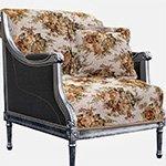 Гобеленовое покрывало (дивандек) на кресло Диана розы Elin