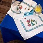 Скатерть льняная с салфетками Я05С48 Музыка весны-1 Elin