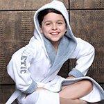 Подростковый халат с капюшоном Atletik junior белый FW