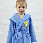 Детский голубой халат Baby из бамбука Five Wien