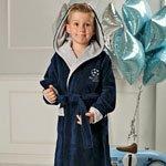 Boys синий подростковый халат с капюшоном FW
