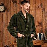 Daniel хаки бамбуковый мужской халат Five Wien