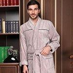 Мужской облегченный халат Dolce бежевый Five Wien