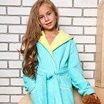 Подростковый халат с капюшоном Mimi бирюзовый Five wien