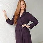 Женский вафельный халат из бамбука Olimpia слива Five Wien
