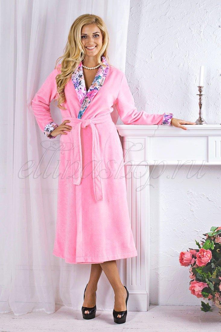 Rozaly розовый женский махровый халат FW