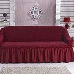 1796 Bulsan бордовый чехол для дивана Karna