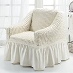 1797 Bulsan кремовый чехол для кресла Karna