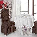 Чехлы на стулья 2 шт Bulsan коричневый Karna