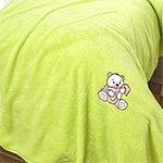 Детский плед из велсофта салатовый Kids soft Karna
