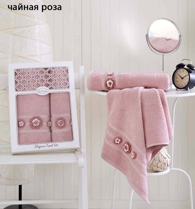 Комплект махровых полотенец 2 шт Elegance Karna