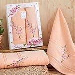 Комплект махровых полотенец Sakura (50x90+70x140) Karna
