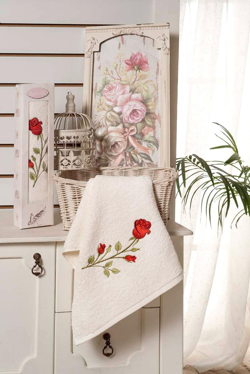 Ange - полотенце махровое 1шт. в упаковке Karna