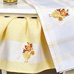 Комплект вафельных полотенец (50x70 2шт) Петух Karna