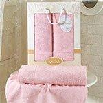 Комплект махровых полотенец Dora (50x90+70x140) Karna