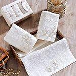 Комплект полотенец с гипюром 3шт (30x50) Senses Karna