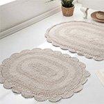 Набор ковриков с кружевом (40x60+50x80 2шт) Diana Modalin