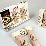 Комплект вафельных полотенец 6шт. Asil pinar V1 Karna