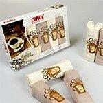 Комплект вафельных полотенец 6шт. Asil pinar V2 Karna