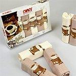 Комплект вафельных полотенец 6шт. Asil pinar V4 Karna