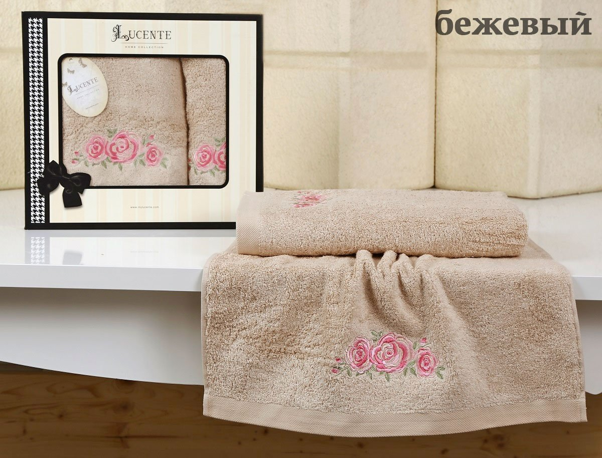 Комплект бамбуковых полотенец (50x90+70x140) Riso Karna