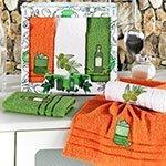 Комплект махровых полотенец (30x50) 3шт Olive Karna