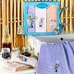 Комплект махровых полотенец (30x50) 3шт Savon Karna