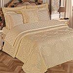 Комплект (постельное белье, покрывало) Pamella бежевый Maison dor