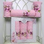 Комплект махровых полотенец (50x90 2шт+70x140) Sakura