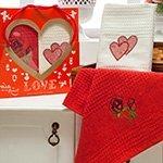 Комплект вафельных полотенец Сердца (40x60 2шт) Merzuka