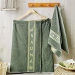 Набор мужской для сауны из хлопка (килт, полотенце 50x90) Juanna