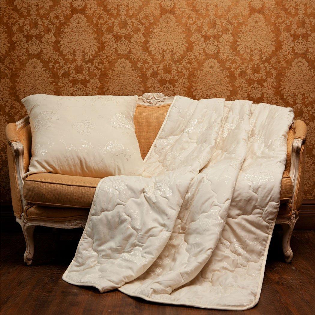 Шерстяные жаккардовые одеяла Золотой мерино