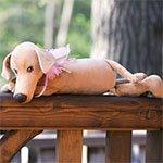 Мягкая игрушка 7651 Собака Миа Orange