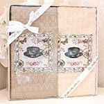 Комплект вафельных полотенец (50x70 2шт) Kelekekli fincal La villa