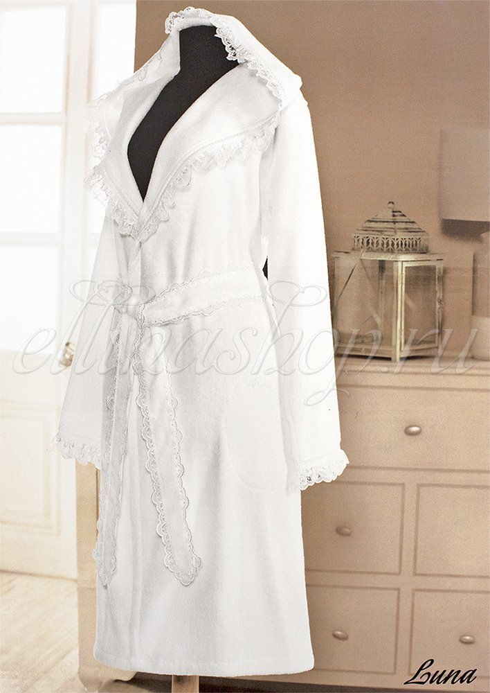 Luna Женский махровый халат с капюшоном Soft